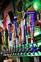Image of multiple beer taps